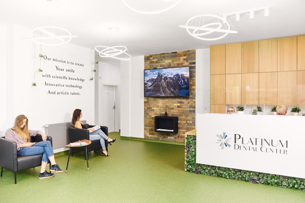 Sala de asteptare Platinum Dental Center